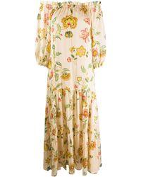 Anjuna Платье С Цветочным Принтом И Открытыми Плечами - Многоцветный