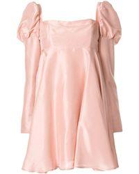 Macgraw Romantic Silk Short Dress - Pink