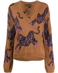 Just Cavalli Tiger Patterned Sweater - Brown