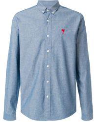 AMI - Ami De Coeur Button-down Shirt - Lyst