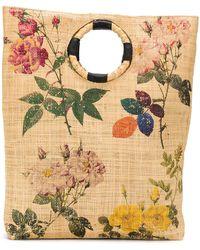 Maria La Rosa Сумка-тоут С Цветочным Принтом - Многоцветный