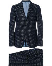 Gucci Traje de dos piezas con bordado floral - Azul