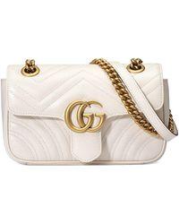 Gucci GG Marmont Matelassé Tas - Wit