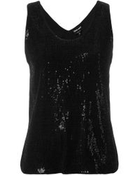 Giorgio Armani - Sequin Embellished Tank Top - Lyst