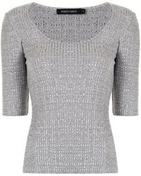 Nobody Denim Luxe Rib Knitted Top - Grey