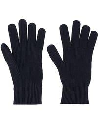 Moncler ウール ニット手袋 - ブルー