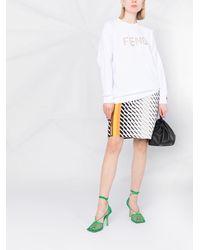 Fendi Толстовка С Вышитым Логотипом - Белый