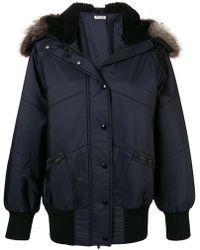 Miu Miu Padded Coat - Blue