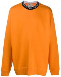 Acne Studios Oversized-Sweatshirt mit Logo - Orange