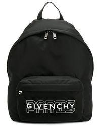 Givenchy ロゴプリント ナイロンバックパック - ブラック