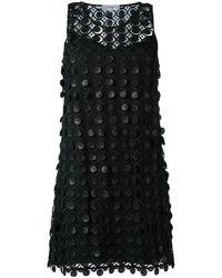 Carven レースドレス - ブラック