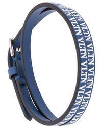 Valentino Vltn ダブルストラップ ブレスレット - ブルー