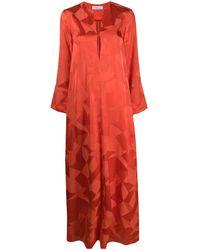 Racil Платье Макси С V-образным Вырезом - Красный