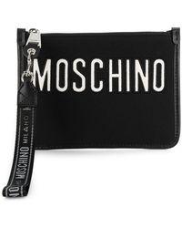 Moschino - Neoprene Clutch With Logo - Lyst