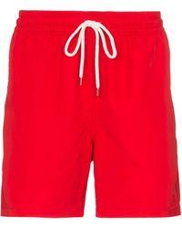 Polo Ralph Lauren Short de bain Traveller à lien de resserrage - Rouge