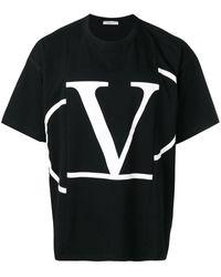 Valentino - Vロゴ Tシャツ - Lyst