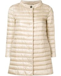 Herno Padded Fitted Jacket - Natural