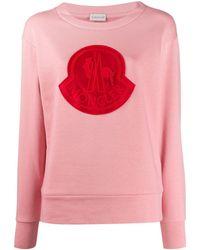 Moncler ロゴ プルオーバー - ピンク