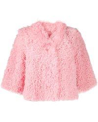 RED Valentino シアリング ジャケット - ピンク