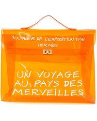 Hermès Kelly クリア ハンドバッグ - オレンジ