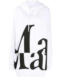 Maison Margiela Logo-print Oversized Hoodie - White