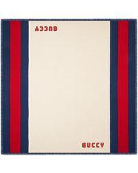 Gucci - Guccy Web Modal Silk Scarf - Lyst