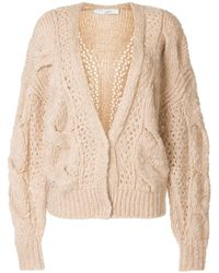 IRO Cable-knit Cardigan - Brown
