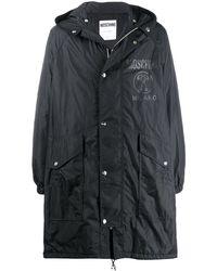 Moschino Logo Print Lightweight Jacket - Black