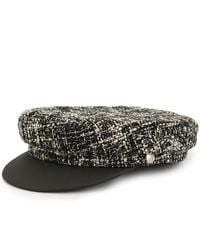 Manokhi Greek Fisherman Tweed Hat - Black