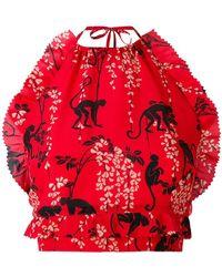 RED Valentino - Monkey Print Halter Top - Lyst
