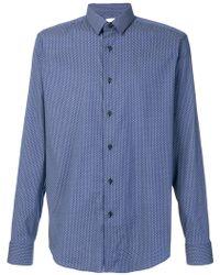 Xacus - Geometric patterned shirt - Lyst
