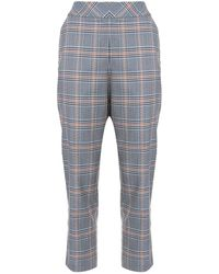 Dice Kayek Mid-rise Tapered Leg Suit Trousers - Blue