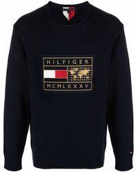Tommy Hilfiger ロゴ プルオーバー - ブルー