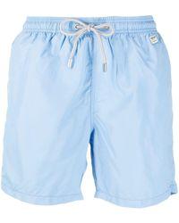 Mc2 Saint Barth Logo-patch Swim Shorts - Blue
