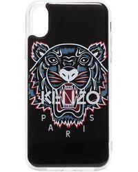 KENZO Funda para iPhone X/XS con estampado de tigre - Negro