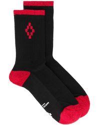 Marcelo Burlon Cross Short Socks - Black