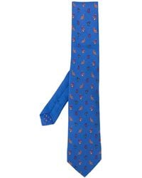 Etro Krawatte mit Paisleymuster - Blau