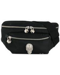 Philipp Plein Crystal Skull Belt Bag - Black