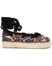 Ash - Beaded Lace-up Espadrilles - Lyst