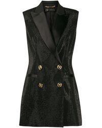 Versace Crystal Tuxedo ベスト - ブラック
