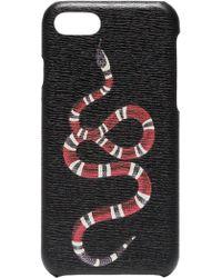 Gucci Чехол Для Iphone 8 С Принтом Kingsnake - Черный