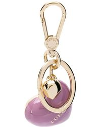 Furla Heart Keychain - Purple