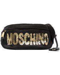 Moschino ロゴ ベルトバッグ - ブラック