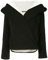 Uma Wang - Contrast Lining Hooded Jacket - Lyst