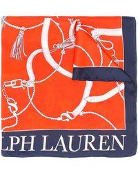Lauren by Ralph Lauren シルクスカーフ - オレンジ