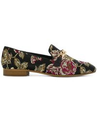Tosca Blu - Embroidered Rose Loafers - Lyst