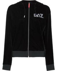 EA7 ベルベット トラックジャケット - ブラック