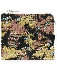 Coohem - Knit Tweed Camouflage Wallet - Lyst