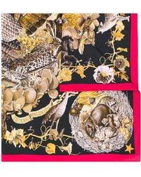 Hermès Foulard Faune Et Flore Du Texas pre-owned 1990 - Marron