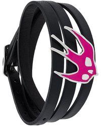 McQ Triple Strap Swallow Bracelet - Black